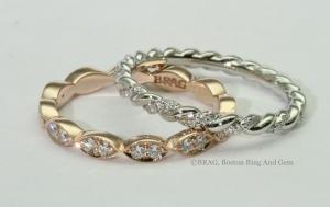 Women's wedding bands rings