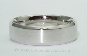 Men's wedding band ring