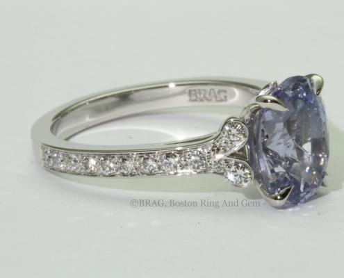 Lavender Sapphire Petal Ring