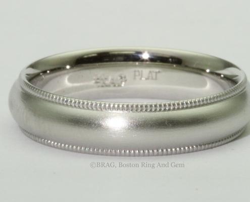 platinum men's wedding band ring traditional
