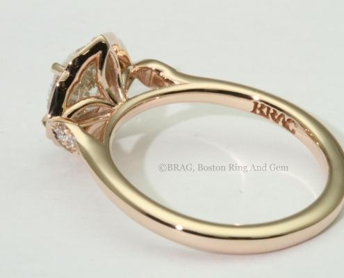 Rose Gold Petal Halo