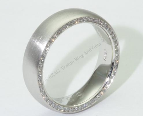 modern platinum diamond gold men's wedding band